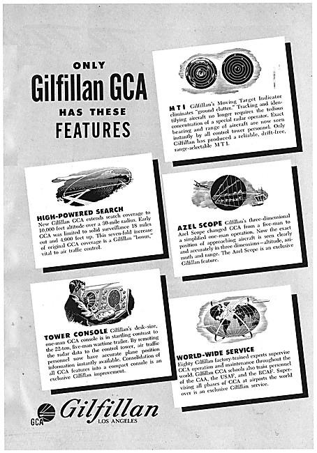 Gilfillan GCA - Gilfillan Ground Controlled Approach Equipment
