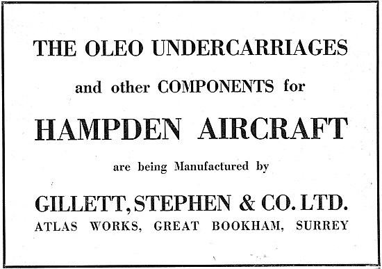 Gillett Stephen & Co - Aeronautical Engineers.