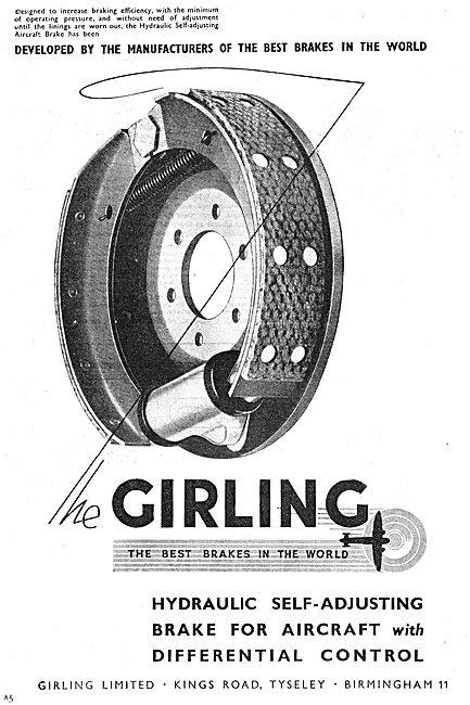 Girling Aircraft Brakes 1949