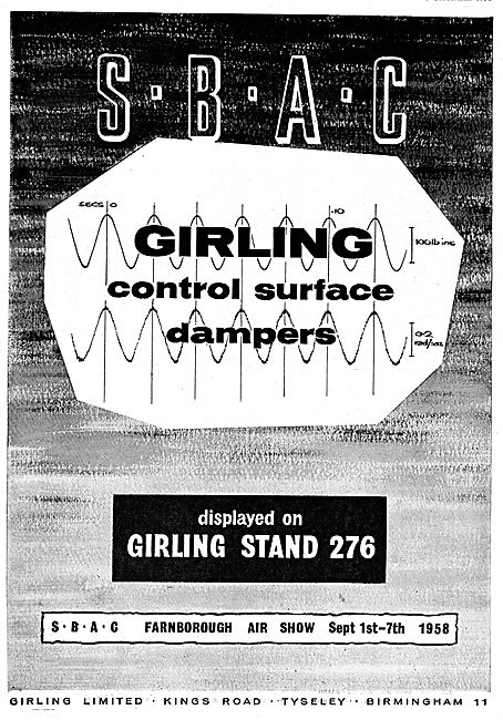 Girling Aircraft Control Surface Dampers