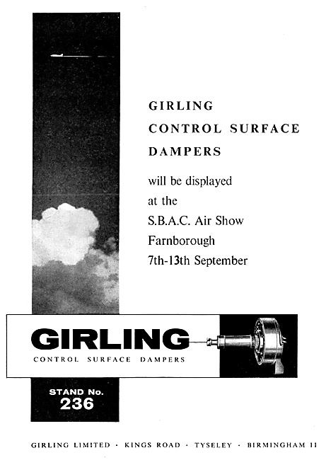 Girling Control Surface Dampers