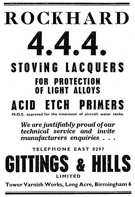 Gittings & Hills Rockhard 444 Stoving Lacquers