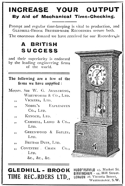 Gledhill-Brook Factory Time Recorders