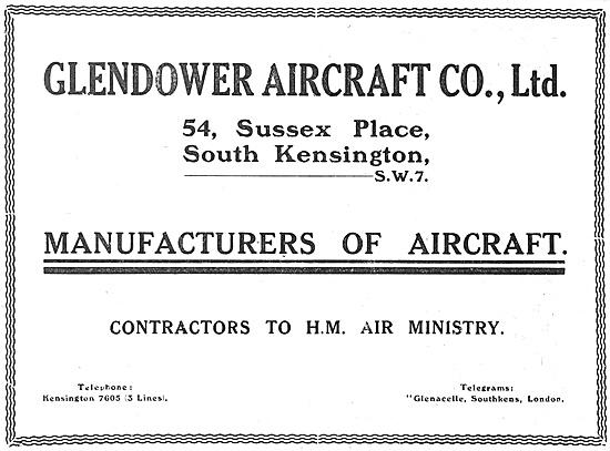 Glendower Aircraft Co: Aircraft Constructors 1918