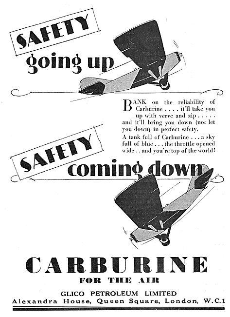 Glico Petroleum Carburine Petrol For Aircraft 1929