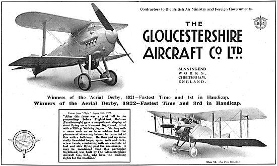 Gloster Mars. Aerial Derby 1921.