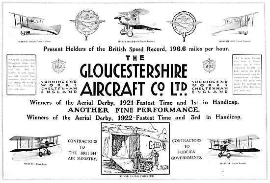 Gloster Aircraft 1922