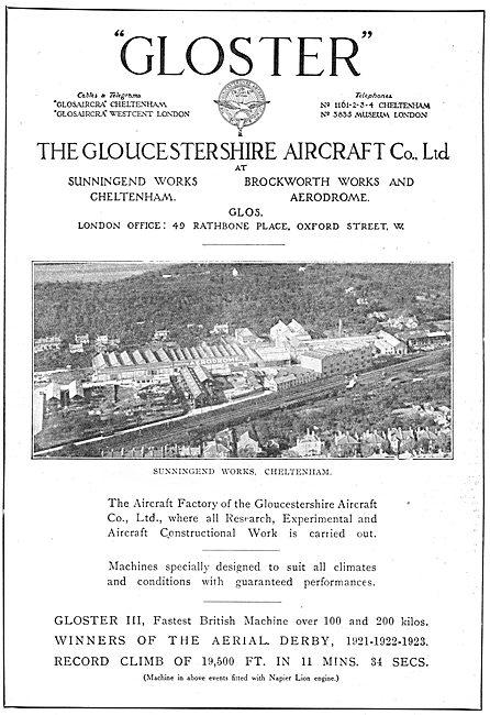 Gloster Aircraft Works. Sunningend Cheltenham