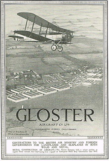 Aerial View Of Gloster Works & Aerodrome - Brockworth