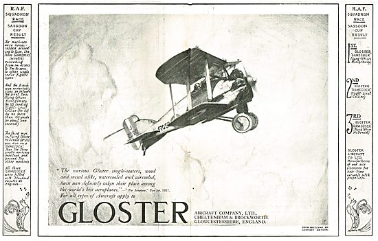Gloster Single Seater Aircraft Achievements