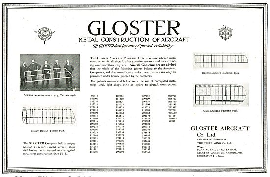 Gloster Metal Patents & Requirement To Licence