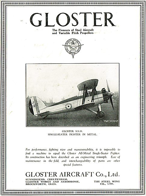 Gloster SS19 Single-Seater Fighter In Metal