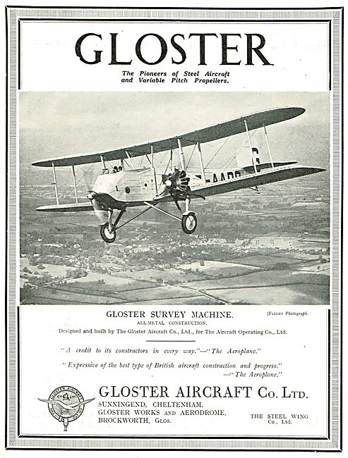 Gloster Twin Engine Survey Machine. (Aircraft Operating Co)