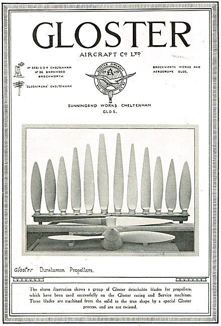 Gloster Detachable Duralumin Propeller Blades