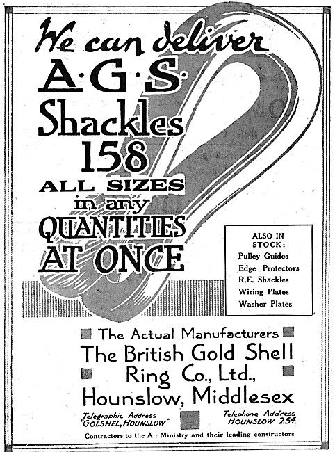 British Gold Shell Ring - AGS Shackles 158
