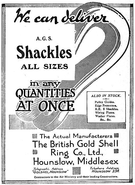 British Gold Shell Ring - AGS Shackles