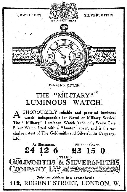The Goldsmiths and Silversmiths Company Military Watch