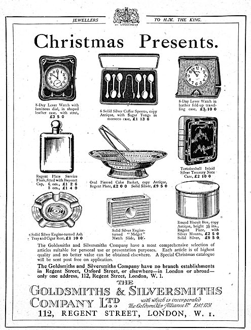 The Goldsmiths and Silversmiths Company WW1 Christmas Presents