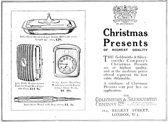The Goldsmiths and Silversmiths Company Christmas Presents  1919
