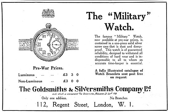 The Goldsmiths and Silversmiths Company - Military Watch