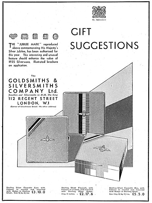The Goldsmiths and Silversmiths Jubilee Gift Suggestions