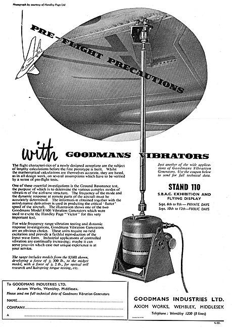 Goodmans Vibration Generators For Aircraft Development