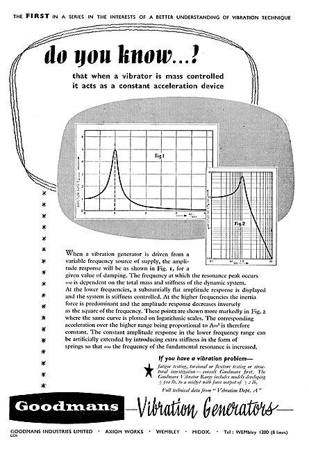 Goodmans Vibration Generators & Test Equipment