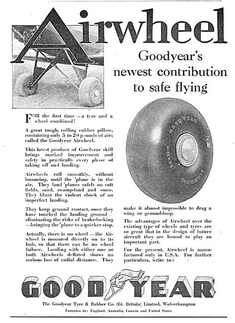 Goodyear Airwheels - A New Contribution To Safe Flying