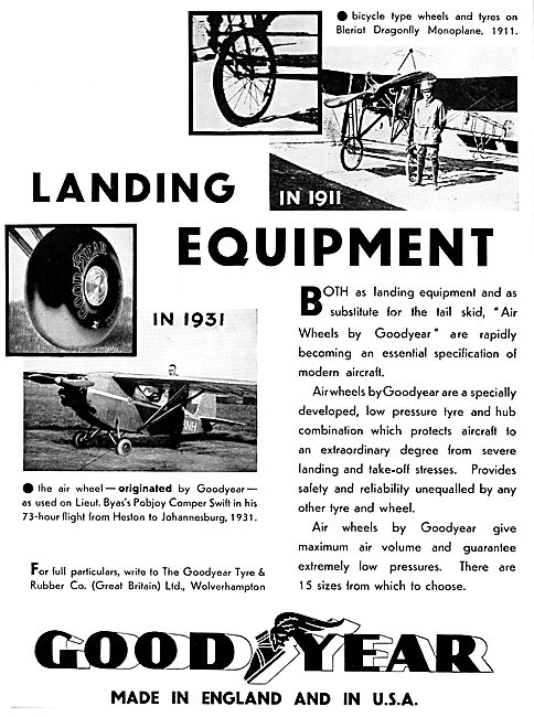 Goodyear Aircraft Landing Gear Equipment