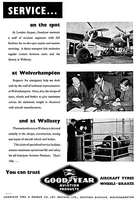 Goodyear Aviation Service At Wolverhampton And At Wallasey