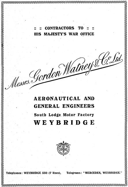Gordon Watney  Aeronautical Engineers