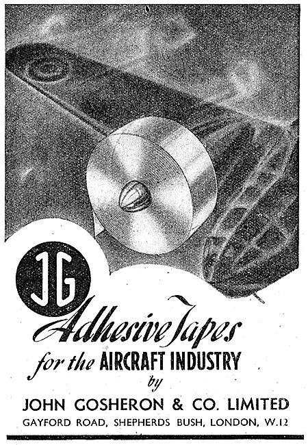 John Gosheron Adhesive Tapes For The Aircraft Industry 1943