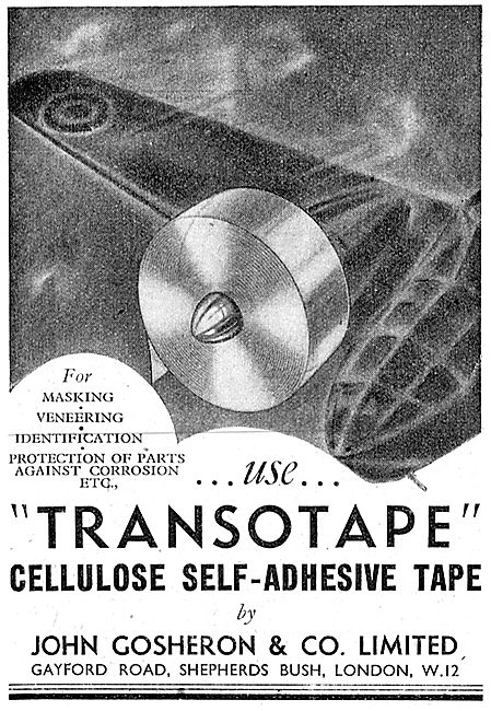 Gosheron Adhesive Tapes For The Aircraft Industry. Transotape