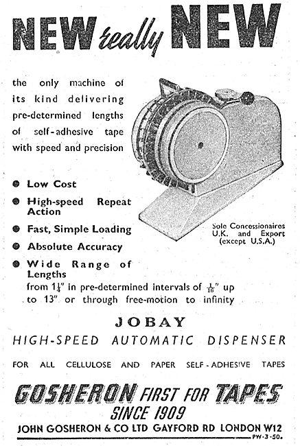 Gosheron Industrial Tapes - Jobay Tape Dispenser