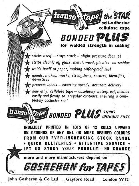 Gosheron Industrial Tapes.Transotape Bonded Tape