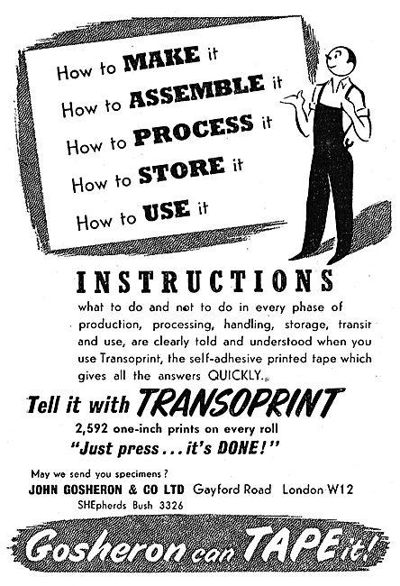 John Gosheron Tapes - Transotape - Contor - Transoprint