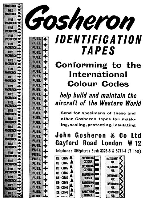 John Gosheron Identification Tapes For Cables & Pipes