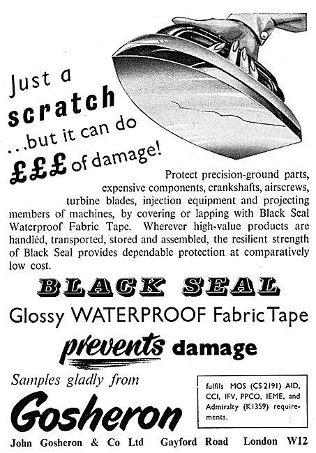 John Gosheron Black Seal Waterproof Fabric Tape