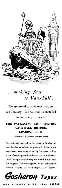 John Gosheron Packaging Tape Centre - Vauxhall Bridge
