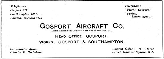 Gosport Aircraft Co - Designers & Builders Of Flying Boats