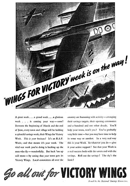 National Savings Committee Wings For Victory 1943