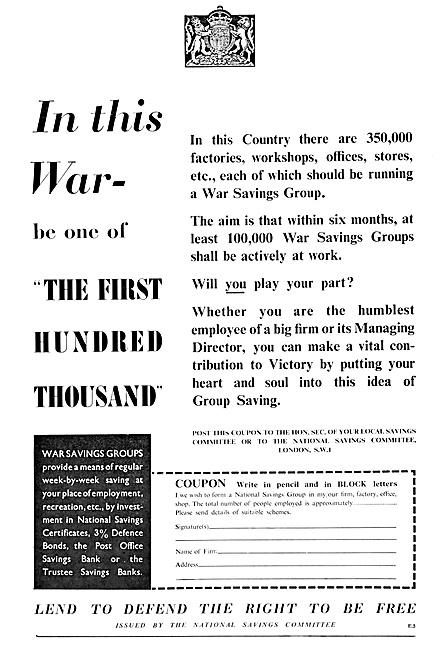 National Savings Committee 1940