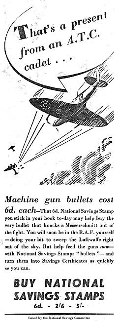 National Savings Committee - Savings Stamps - Wings For Victory