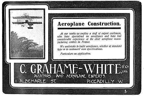 C.Grahame-White & Co Ltd Aeroplane Construction