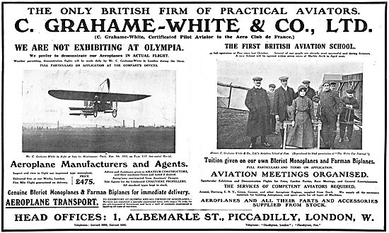 Grahame-White. The Only British Firm Of Practical Aviators