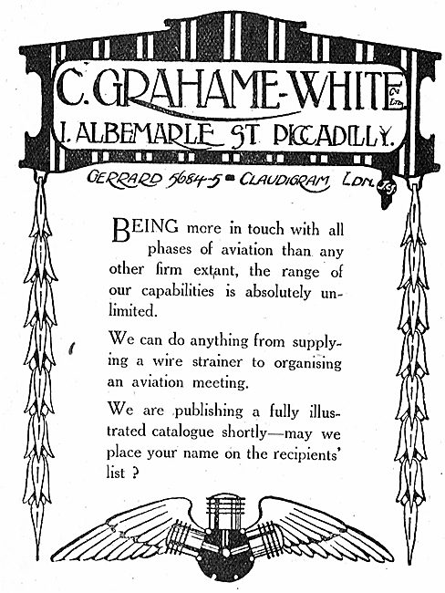 Grahame-White's Can Supply Anything To Do With Aviation