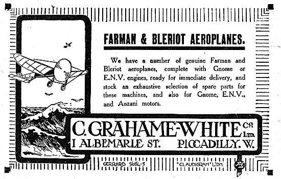 Grahame-White & Co For Farman & Bleriot Aeroplanes.