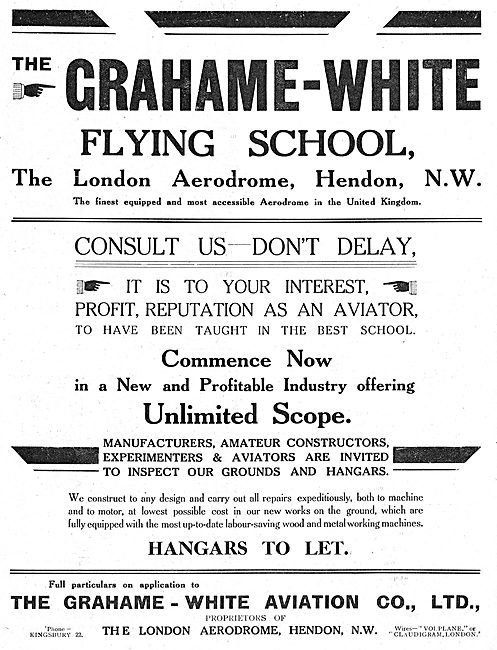 Grahame-White. London Aerodrome Hendon
