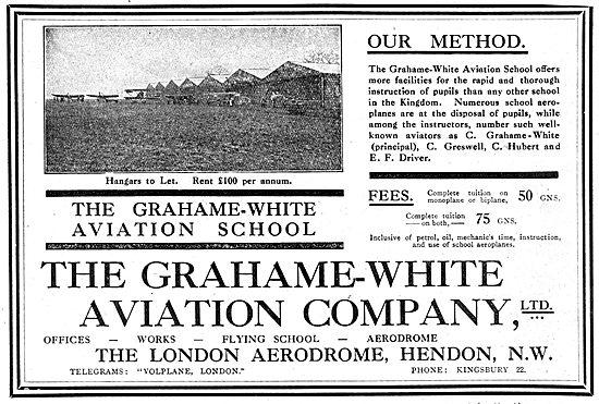 Grahame-White Aviation School - Hangars To Let Hendon
