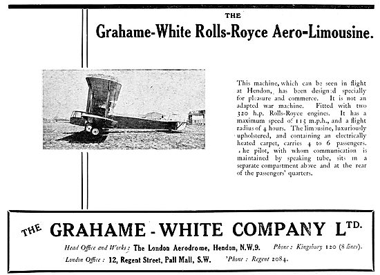 Grahame-White Rolls-Royce Aero-Limousine